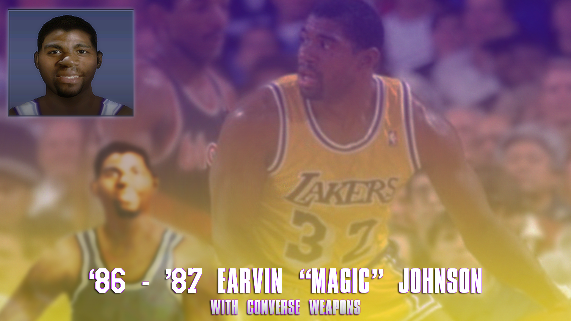 Magic Johnson 1987 Face