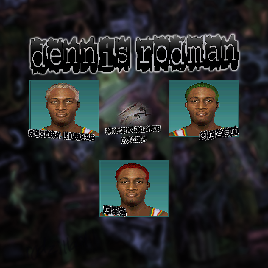 Dennis Rodman 3 Hair Colors Pack