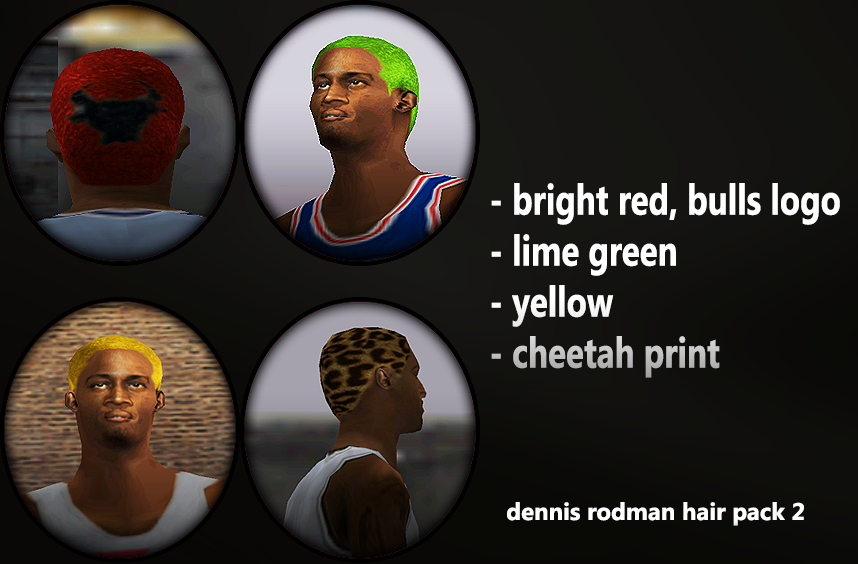 Dennis Rodman 4 Hair Colors Pack