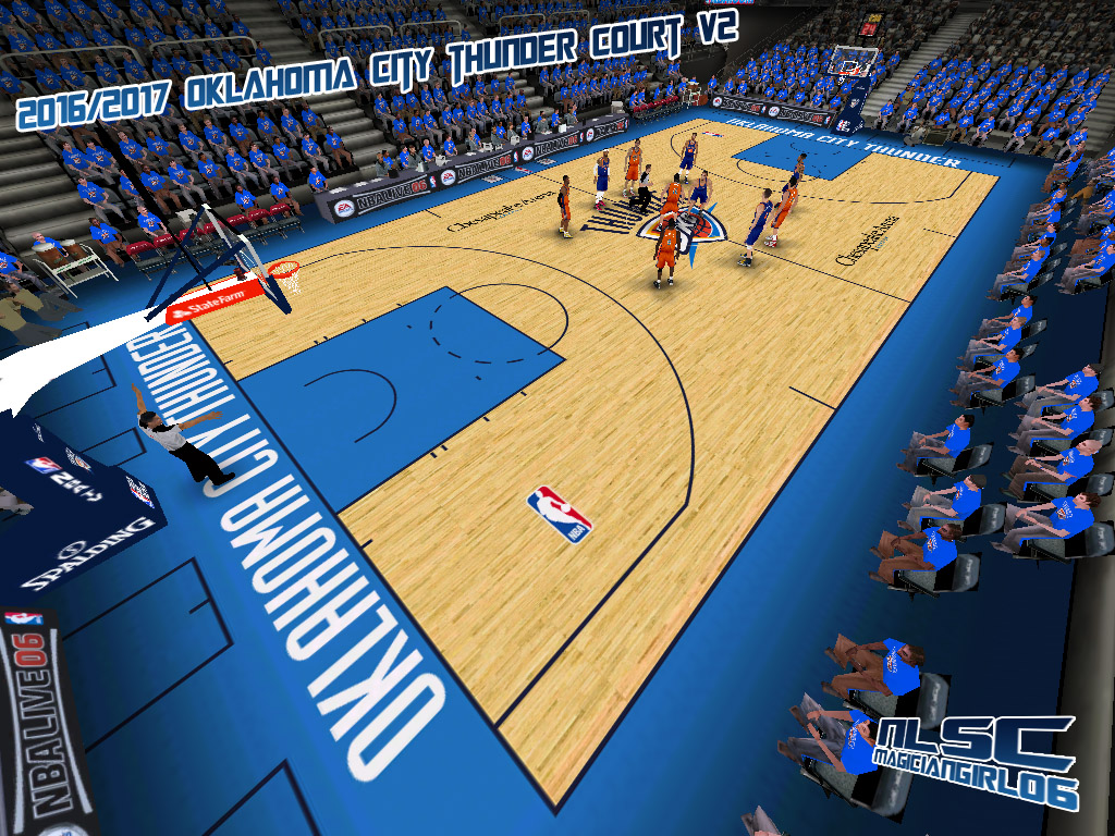 2016/2017 Oklahoma City Thunder Court