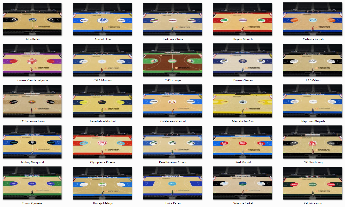 Euroleague Courts Update