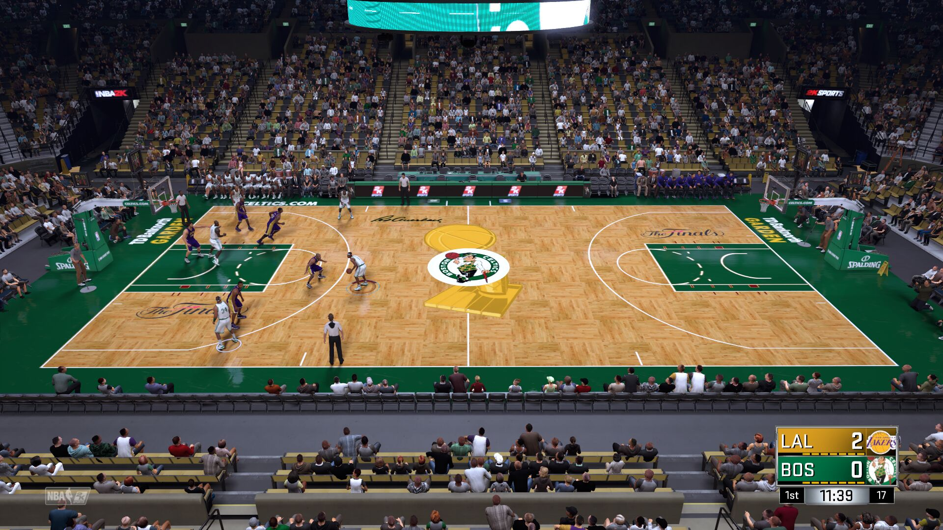 07-08 Boston Celtics Finals Court