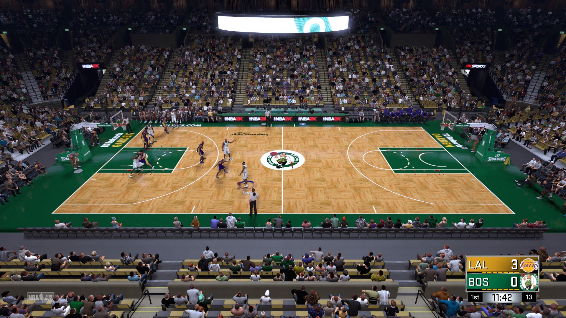 07-08 Boston Celtics Court