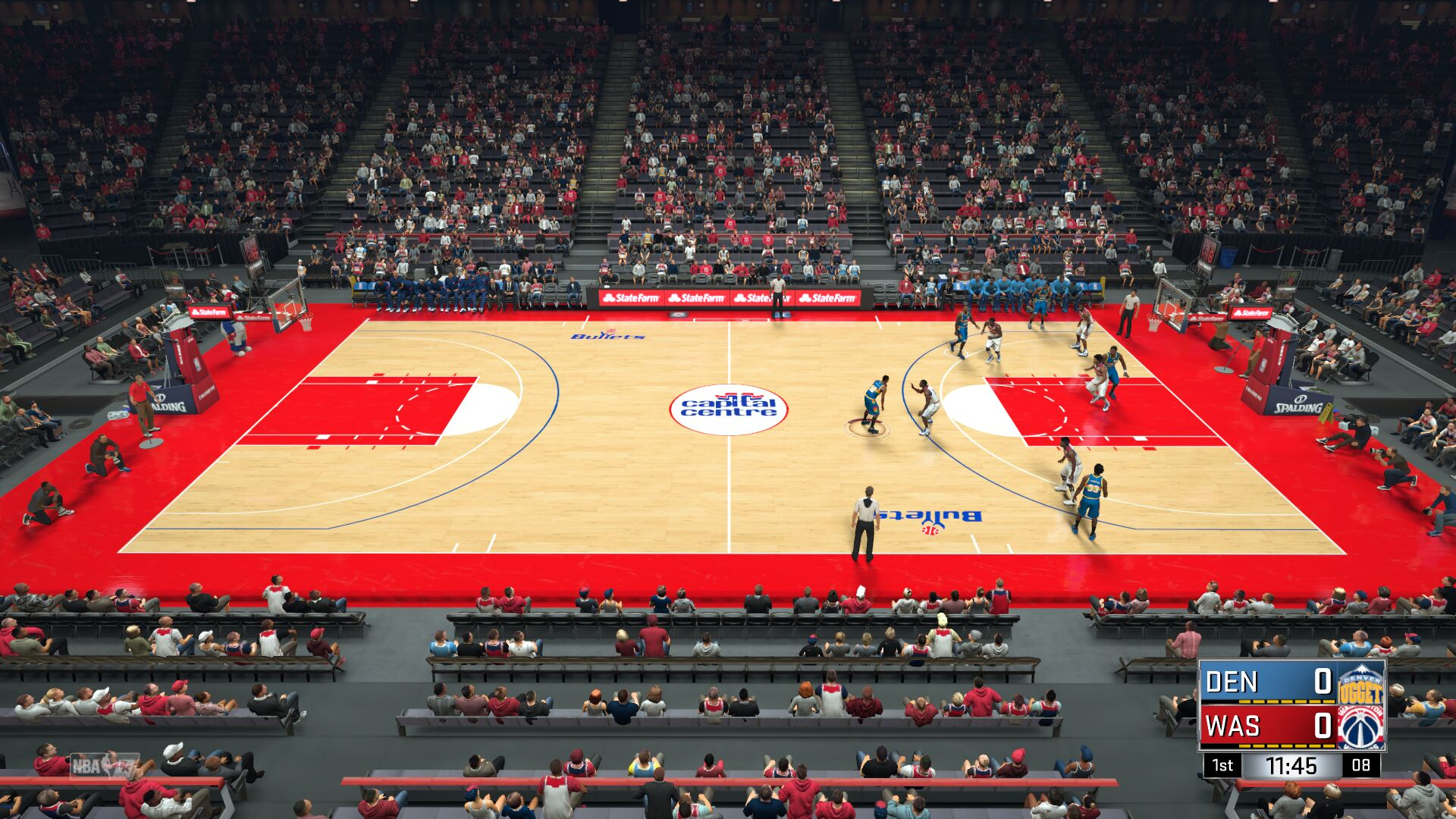 89-90 Washington Bullets Court