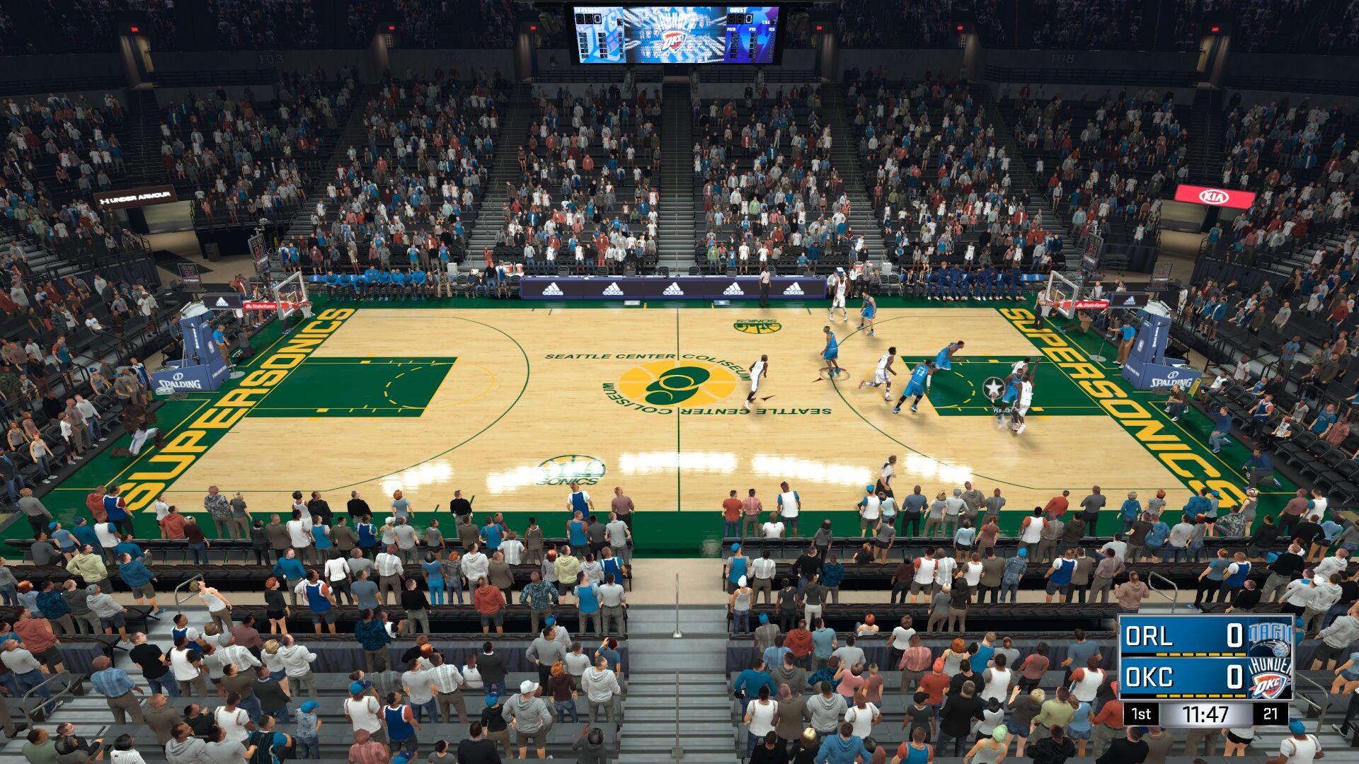 93-94 Seattle SuperSonics Court