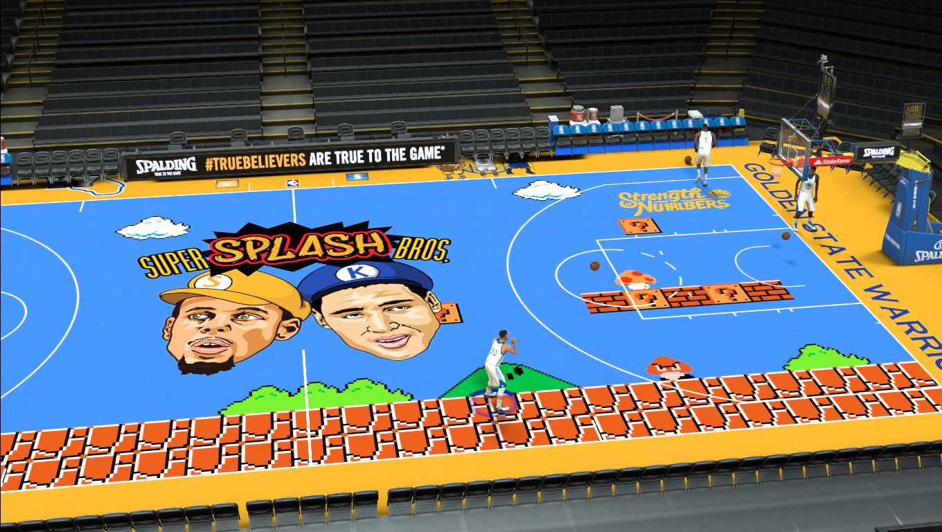 Super Splash Bros GSW Court