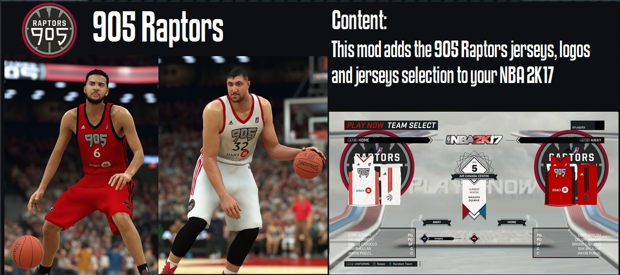 ... to NBA 2K17. Password  shuajota. 905 Raptors Jerseys 1799e1c12