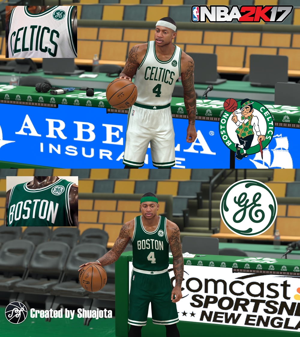 Boston Celtics 17/18 GE Badge Jerseys