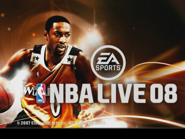 NBA Live 08 Next Gen Title Screen