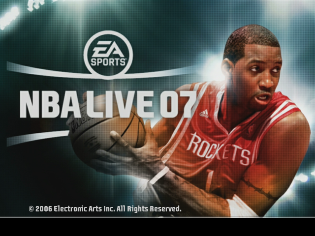NBA Live 07 Next Gen Title Screen