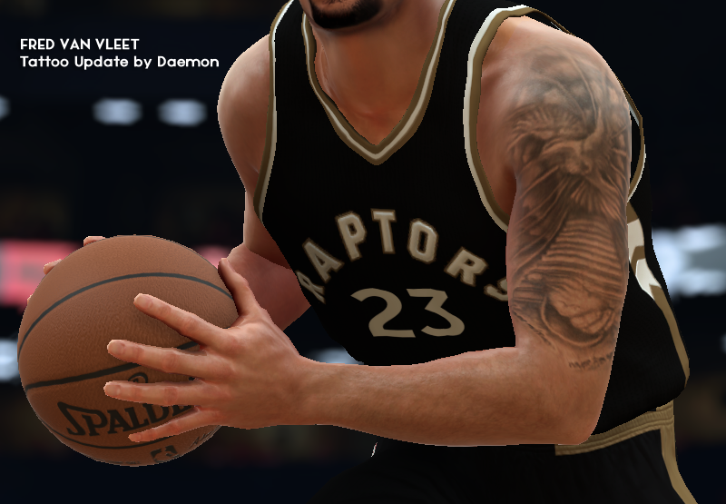 Fred VanVleet Tattoo (DDS File Only)