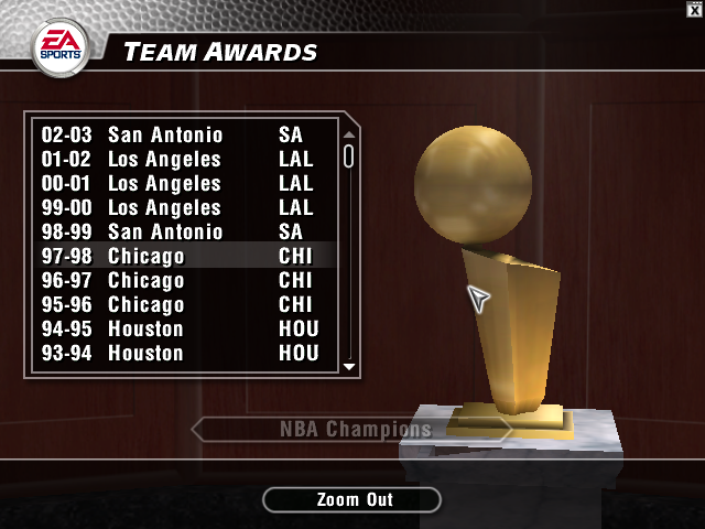 Updated Records for NBA Live 2004
