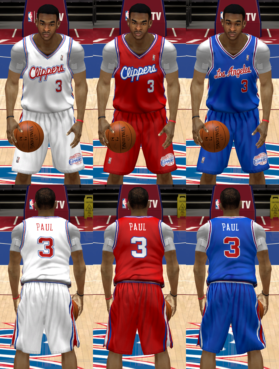1990s Los Angeles Clippers Uniforms