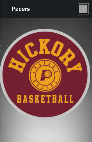Indiana Pacers Hickory Logo