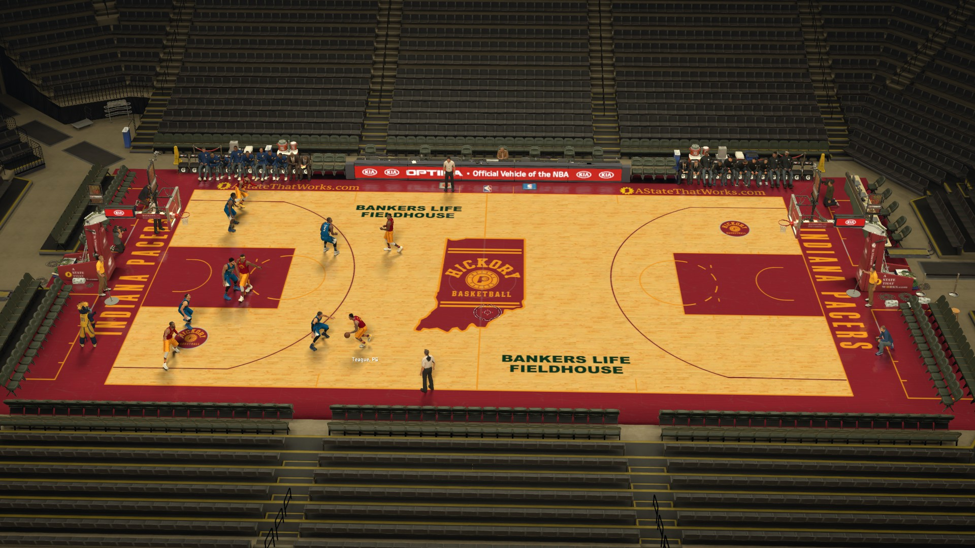 Indiana Pacers Fictional Hickory Court