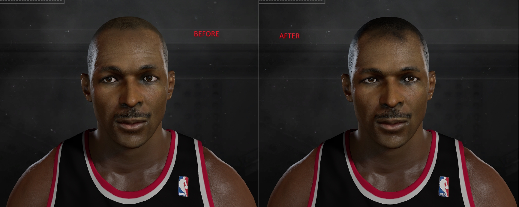 NLSC Forum • Downloads Younger Clyde Drexler Face with Hair