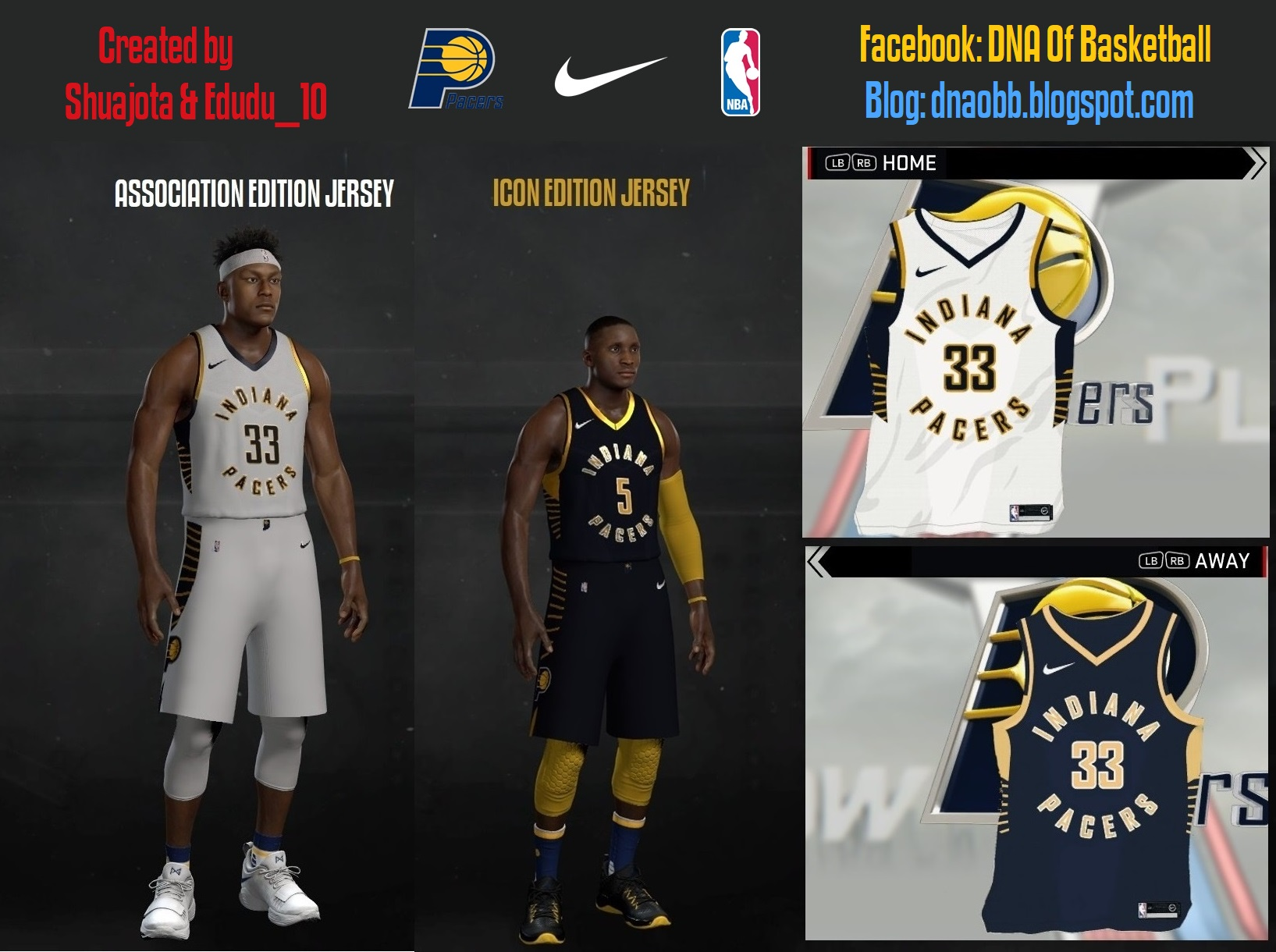 release date 1012c 96a22 NLSC Forum • Downloads - Indiana Pacers 2017-2018 Jerseys