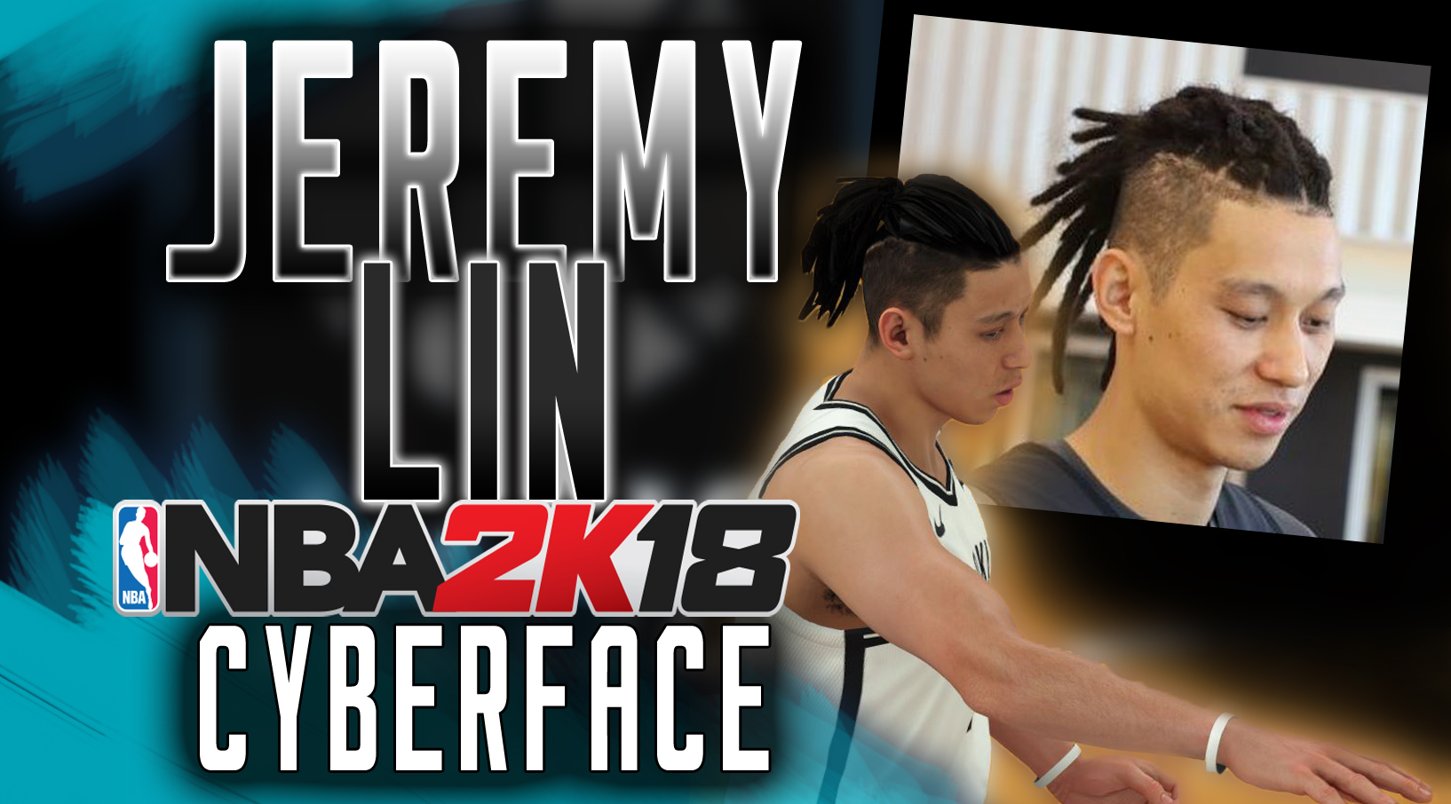 Jeremy Lin Face (2017- 2018 Dreadlocks)