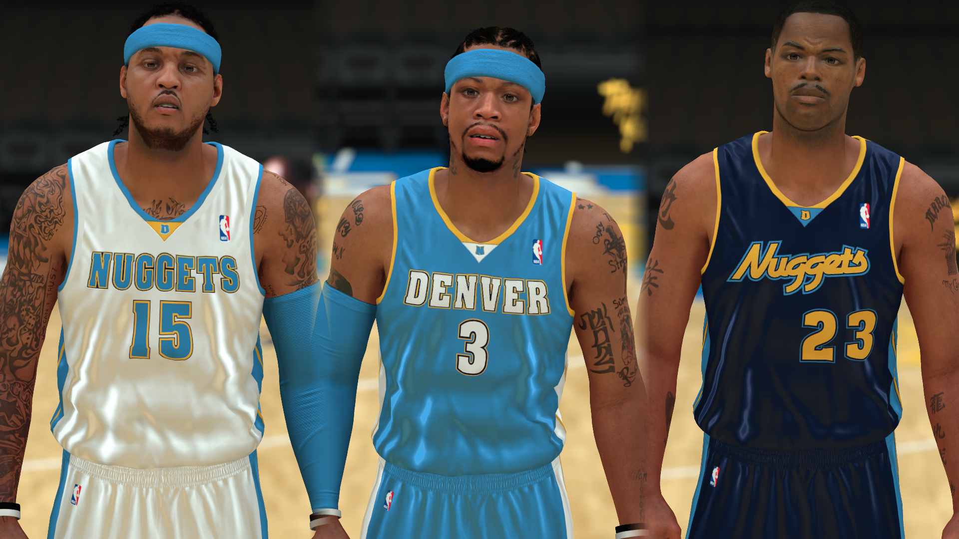 2007-2008 Nuggets Jerseys - PeacemanNOT
