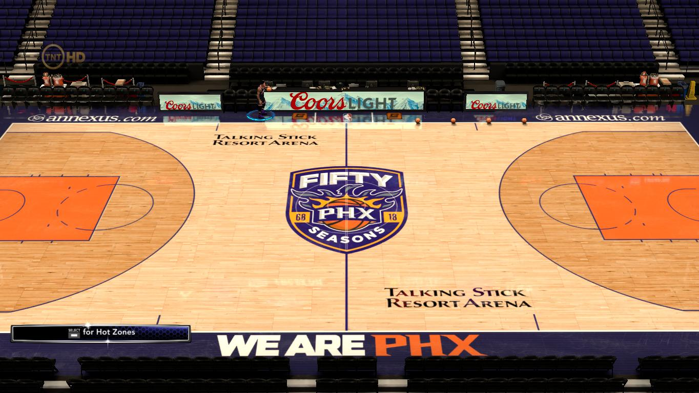 2017-2018 Phoenix Suns 50th Anniversary Court